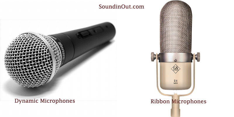 different types of condensor microphones