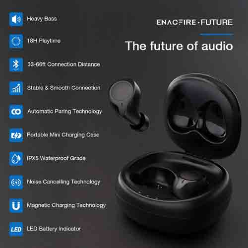 Key Features of ENACFIRE Future Bluetooth 5.0 Wireless Earbuds