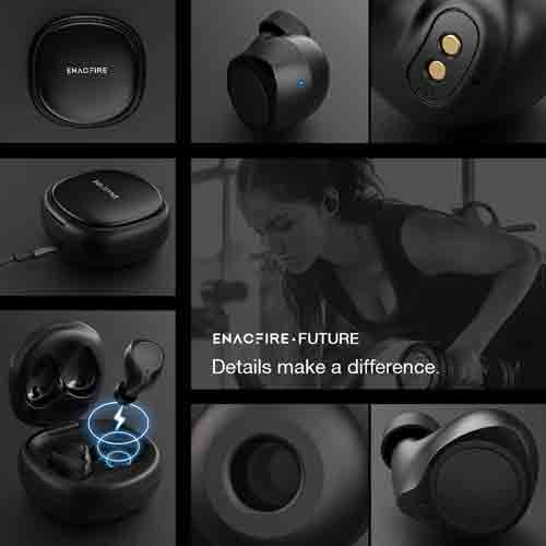 wireless earbuds enacfire future headphones